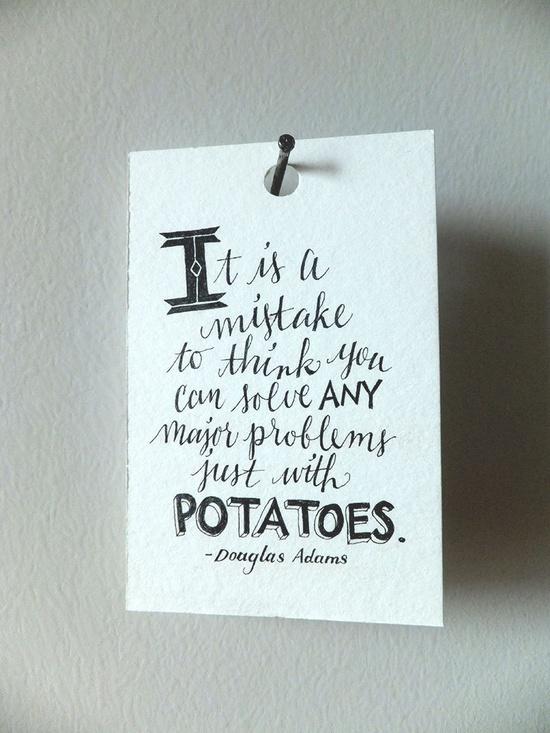 Mini Quote - Douglas Adams (from Britt Wilson)