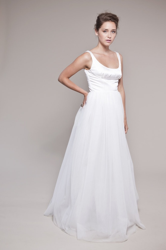 Tulle Wedding Dress:  Petals Scooped Tank and Layered Tulle Skirt. $2,300.00, via Etsy.