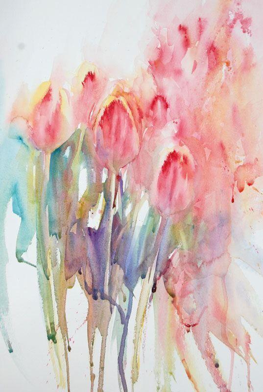 Jean Haines Tulips