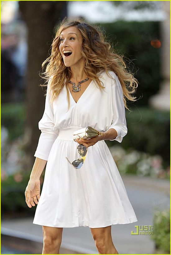 Sarah Jessica Parker, all in white ~ Sex and the City