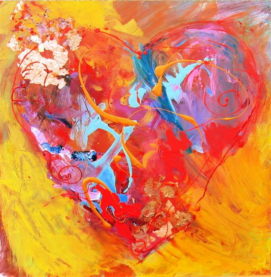 Yellow Heart by Henryk Ptasiewicz