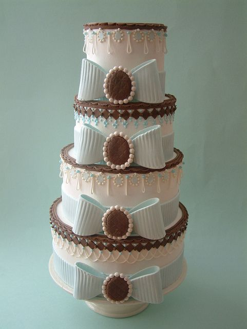 Bow-decked cake by Osedo L Cakes, via Flickr