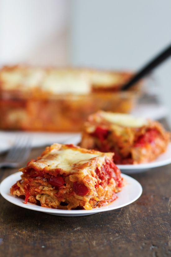 Whole wheat roasted veg lasagna