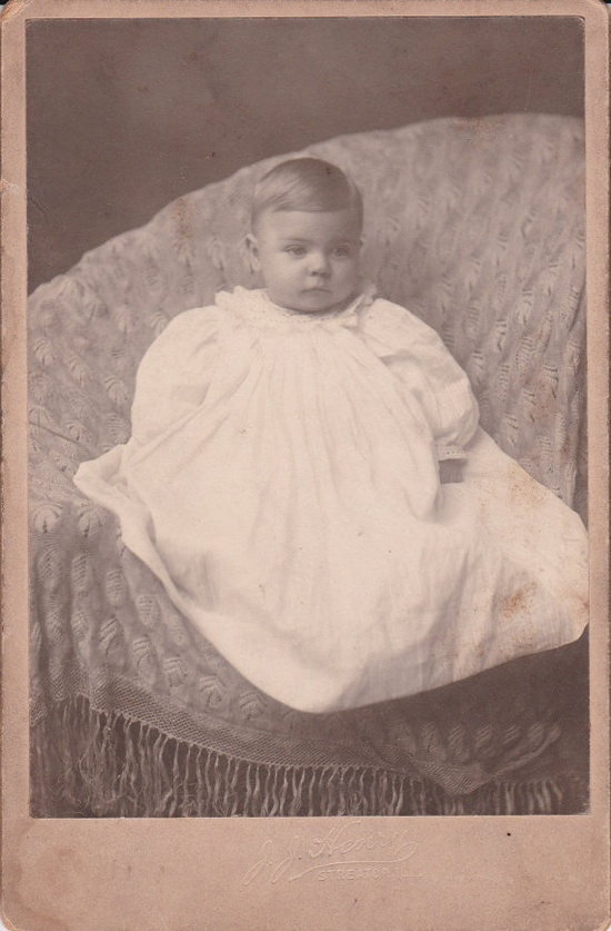 Antique Photograph of a Beautiful Baby