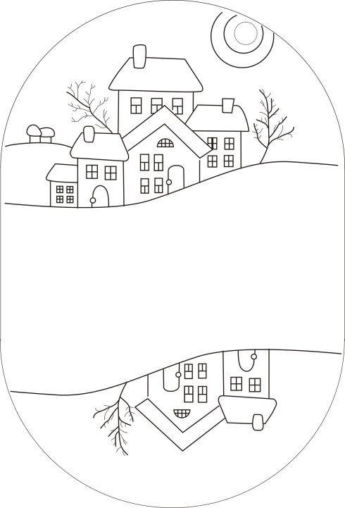 Pochette Village appliqué - Chez elkalin.com