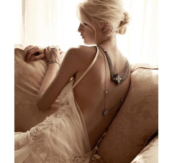 Bridal back necklaces - kind of amazing!