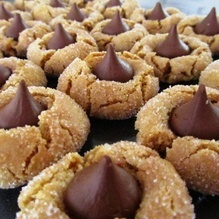 #Chewy #Peanut #Butter #Blossoms { #recipe #food #dessert #chocolate }