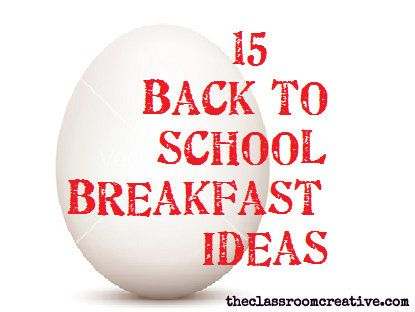 Back to school breakfast ideas. #backtoschool