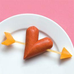 Heart hot dog