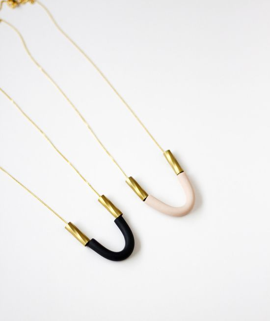 U shaped necklace by AMM Jewelry