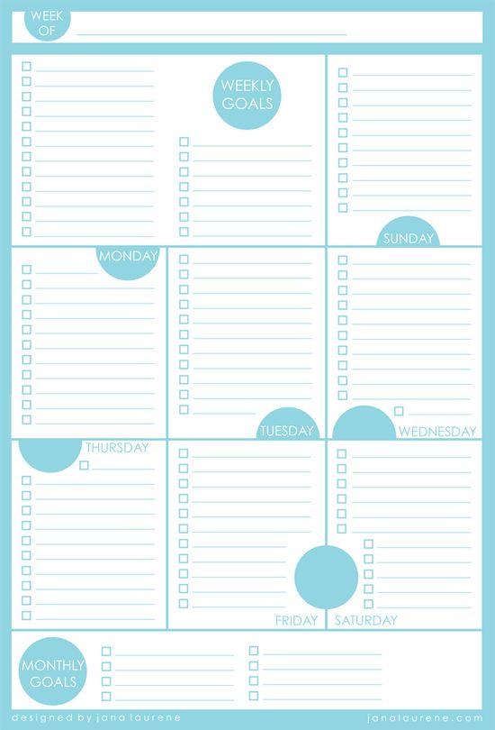 Weekly planner #printables