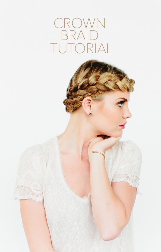 diy crown braid hair tutorial