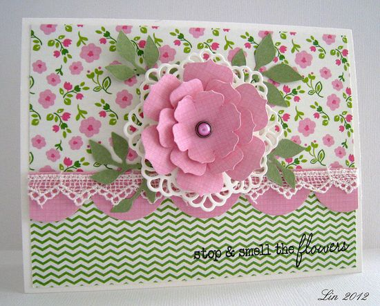 Flourishes Timeless Tuesday #160 Lace and Scallops by quilterlin, via Flickr