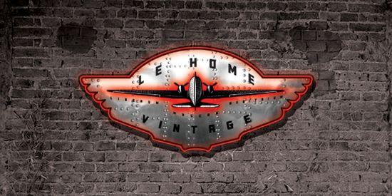 neo-vintage style logo
