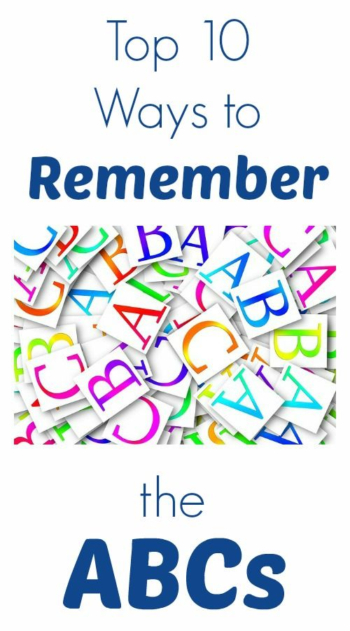 Top 10 Ways to Remember the ABCs-Fun ways for kids to practice the alphabet