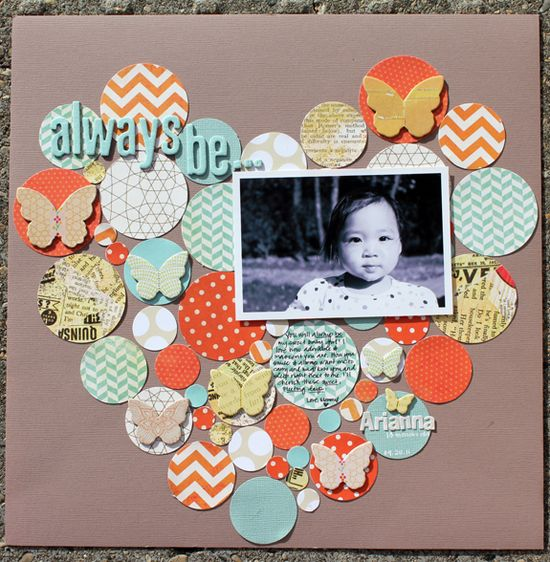 Scrapbook page layout.