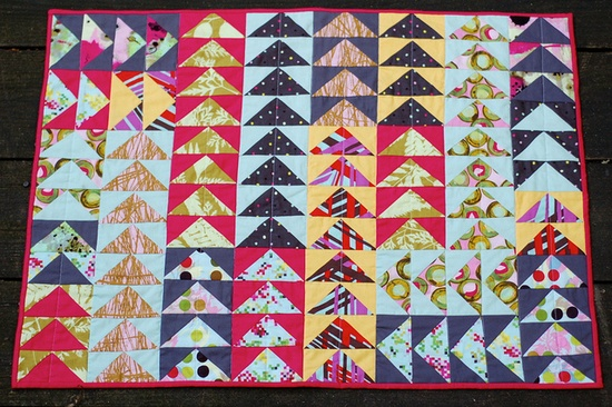 """""""flying to modern habitats"""" 24 x 33 inches mini quilt Boston Modern Quilt Guild by m_soto"""