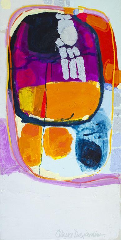 "Saatchi Online Artist: Claire Desjardins; Acrylic, 2011, Painting ""Rhapsoldy"" [lookin like a tv dinner! ,3]"