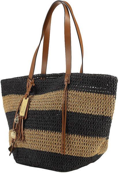Striped Straw Tote Bag- Hammock or Gondola