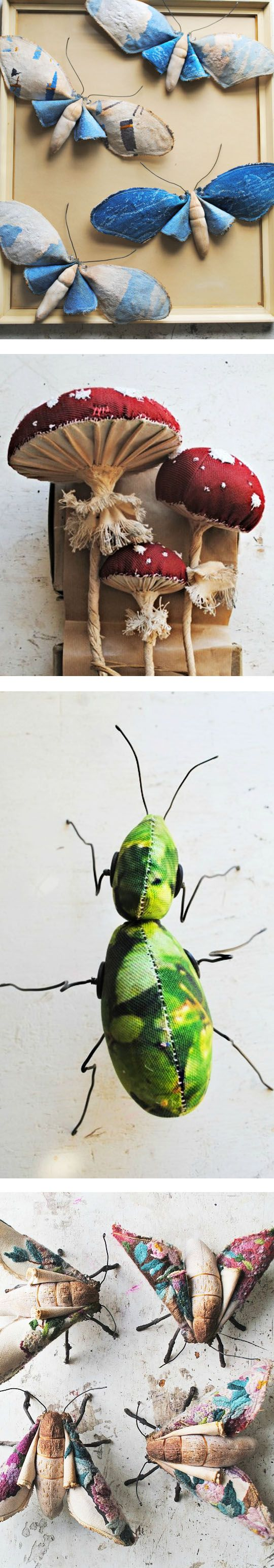 insects etc ~ fabric art