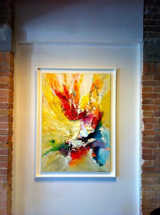A FLOWER FOR MY LOVE 2, 3d living abstract paintings, by Dan Bunea, www.danbunea.ro