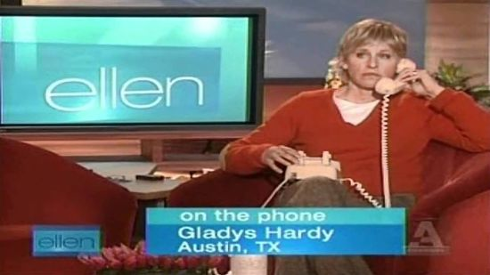 Ellen DeGeneres ~ I Love Jesus But I Drink A Little With Gladys From Austin, Texas