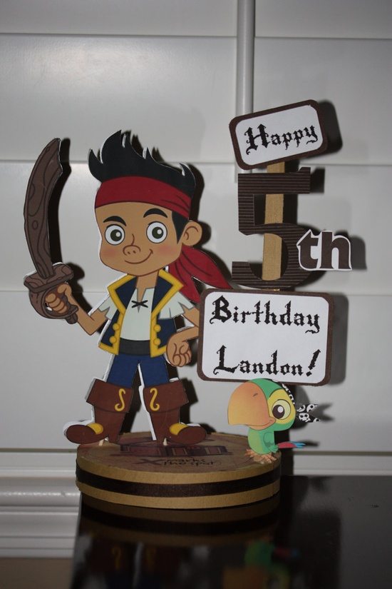 Jake and The Neverland Pirates Personalize Birthday Party Centerpiece. $18.50, via Etsy.