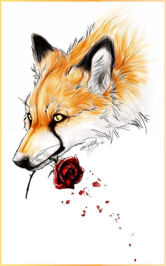 Fox and rose design :)