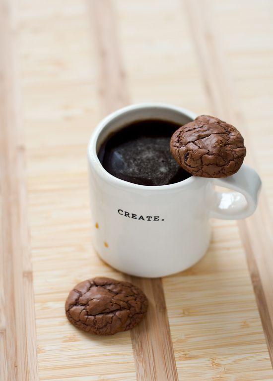 chocolate espresso fudge cookies • love & olive oil
