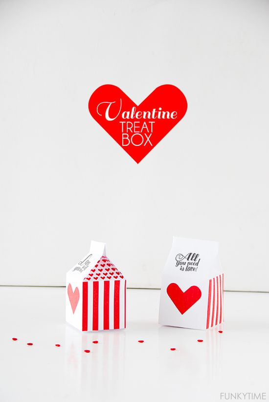 Valentine treat boxes printable