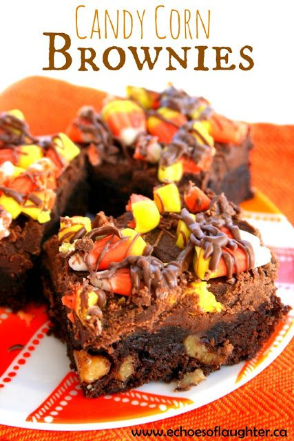 Candy Corn Brownies-easy and super cute for Fall!