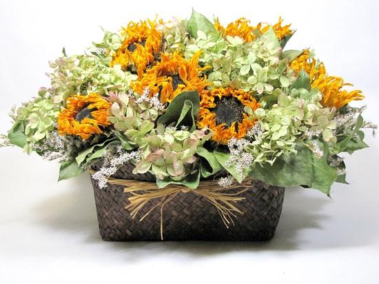 Dried Floral Arrangement,  Floral Centerpiece, Dried Flowers, Flower Arrangements, Sunflower Arrangement, Decor. $52.00, via Etsy.