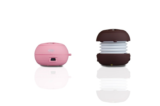 boomtune macaron portable speakers. cute.