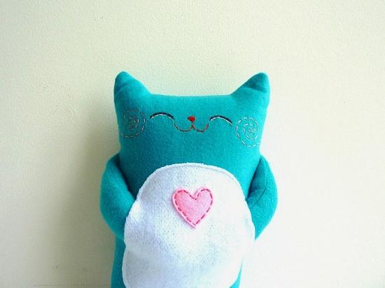 Plush Cat, via Etsy.