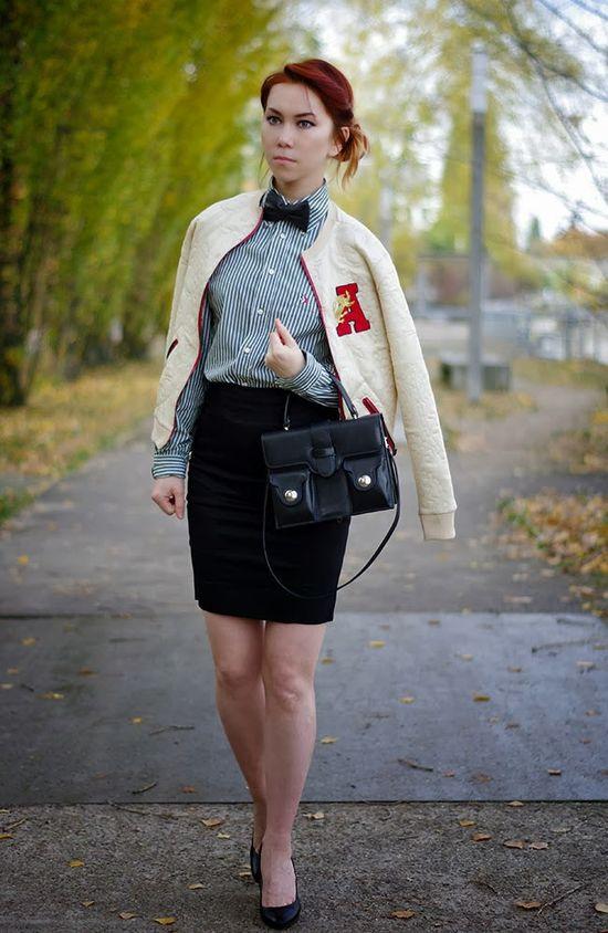 ::: OutsaPop Trashion ::: DIY fashion by Outi Pyy :::: DIY varsity jacket
