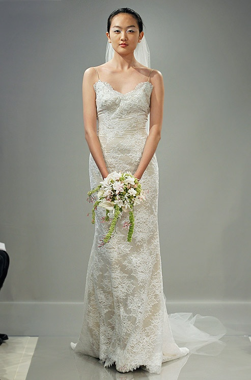 Lace wedding dress from Theia, Fall 2013