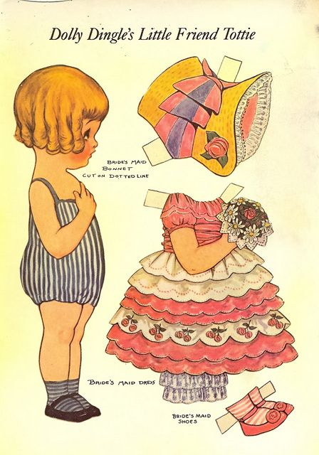postcard - paper doll - 3 by sonobugiardo, via Flickr
