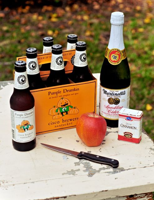 Ingredients for The Sparkling Pumple Drumkin. #FallDrinks #PumpkinBeer