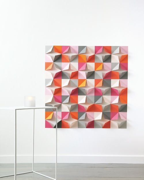 Folded-Paper Wall Backdrop How-To.
