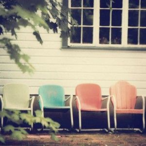 retro summer chairs - beautiful color inspiration