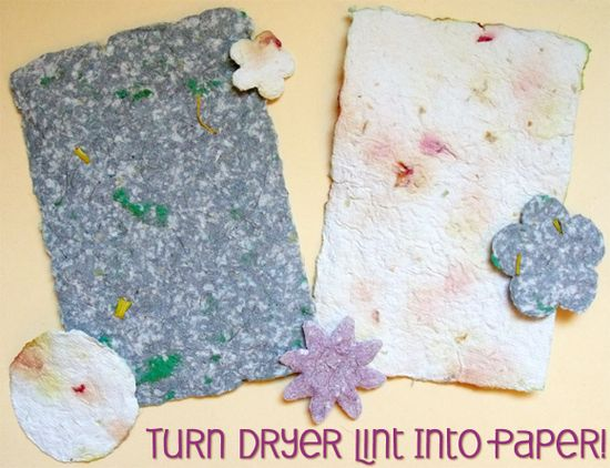 Dryer lint paper-who knew?