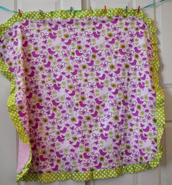 Tweet Love  baby girl flannel blanket