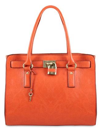 I love orange purses!!!!