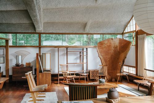 // george nakashima's conoid studio by brian ferry.