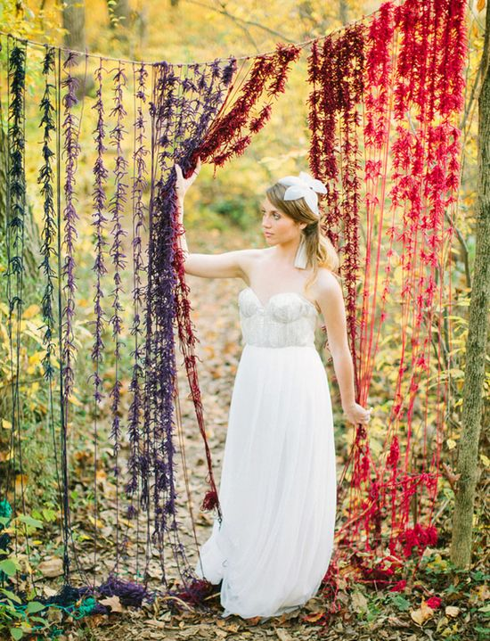 Inspired: a knotted yarn backdrop.
