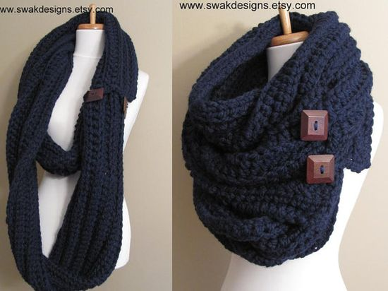 Eternity Scarf Oversized Wool Scarf Convertible by SWAKCouture, $145.00