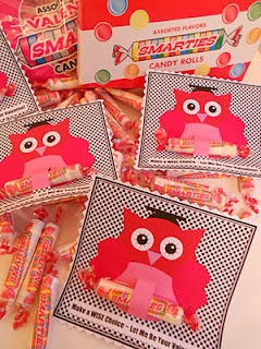 Cute Smarties owl Valentines....
