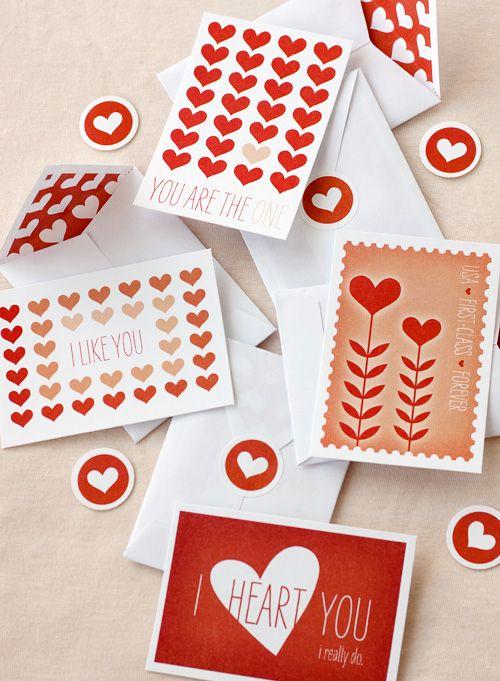 Valentine cards.