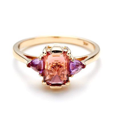 Anna Sheffield Pink Tourmaline & Ruby Bea Ring