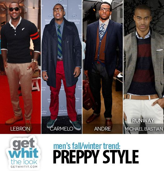Preppy Style looks from various Black male celebrities - Get WHIT It : Celebrity Fashion & Style Trends: Men's Fashion: 6 ...